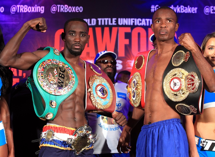 Terence Crawford is undisputed world champion after beating Julius Indongo