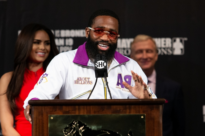 Adrien Broner and Manny Pacquiao make their weight at the MGM Arena