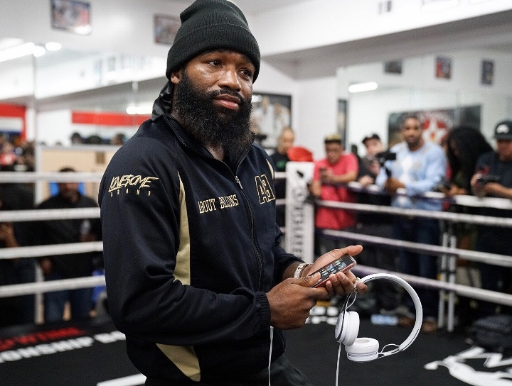 Photos adrien broner media day from los angeles boxing news for Adrien harper watches