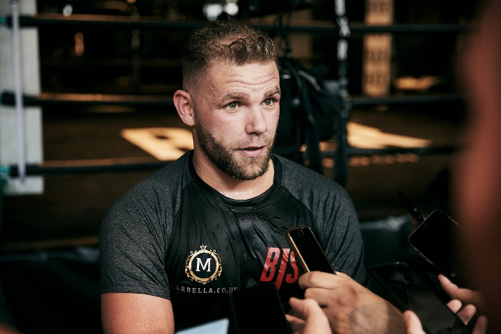 Billy Joe Saunders apologises for domestic violence 'advice' clip