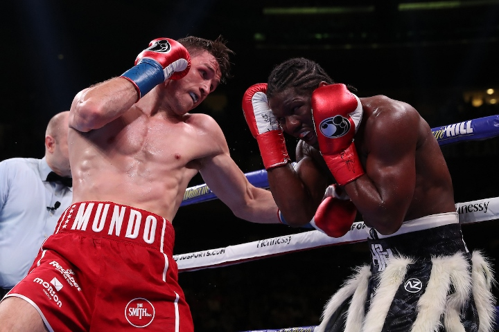 Callum Smith retains super-middleweight title with TKO