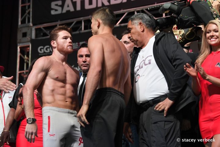 Canelo vs GGG: Canelo Alvarez and Gennady Golovkin's dramatic weigh