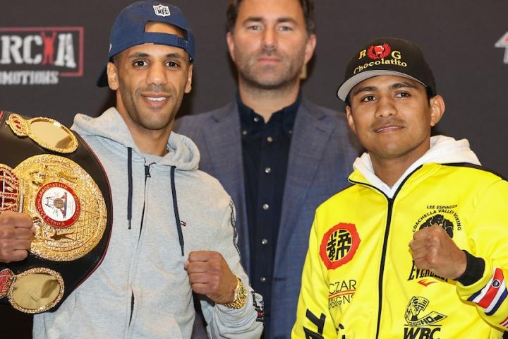Mikey Garcia vs Jessie Vargas weigh-in results