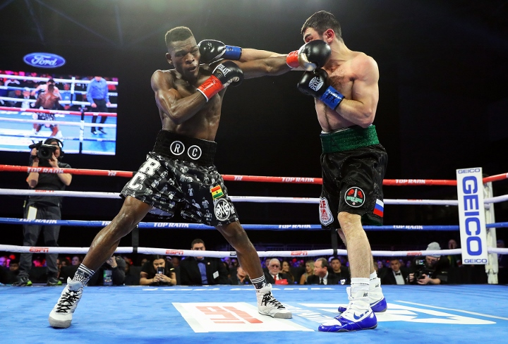 Richard Commey Stops Isa Chaniev Early To Win IBF Lightweight Title