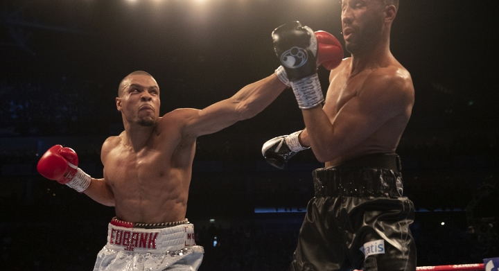 Chris Eubank Jr threw James DeGale to the canvas in Round 11
