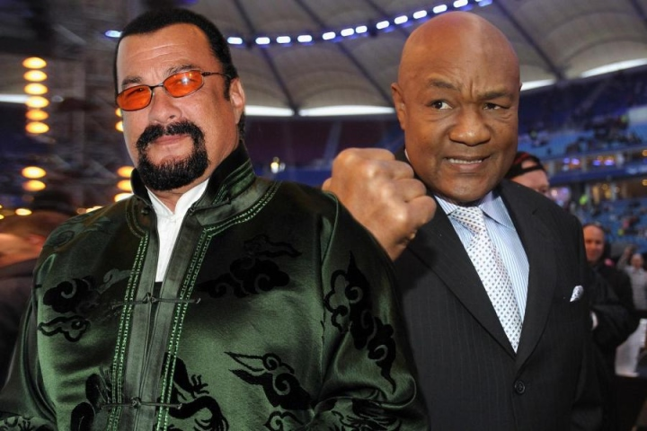 George Foreman Has Challenged Steven Seagal To A Fight On Twitter