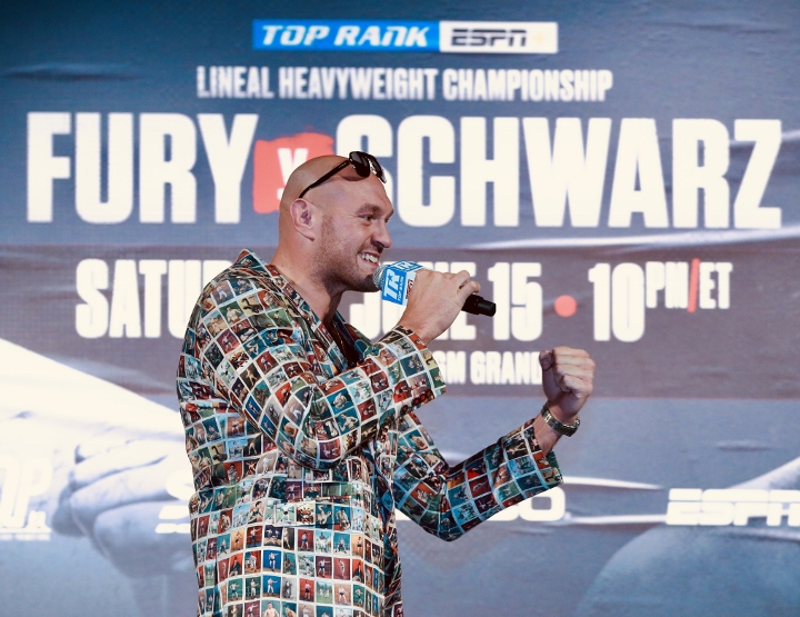 Too big, too strong: Tyson Fury floors Tom Schwarz to remain unbeaten