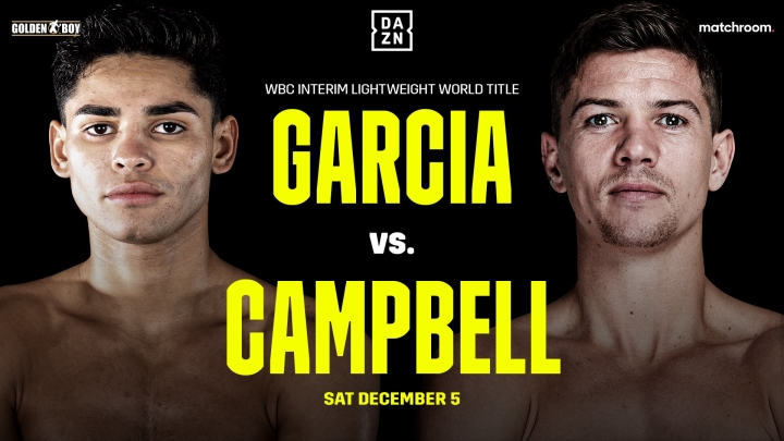 Ryan Garcia Vs Luke Campbell Undercard Information Boxing News