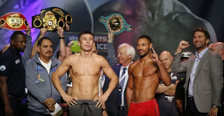 Gennady Golovkin beats Kell Brook with fifth-round stoppage in London