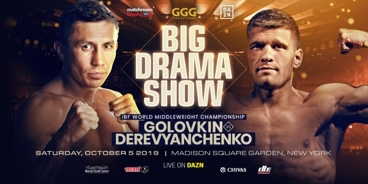 Golovkin- Derevyachenko officially announced for October 5th