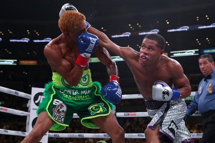 Photos: Devin Haney Drops, Decisions Alfredo Santiago - BoxingScene.com