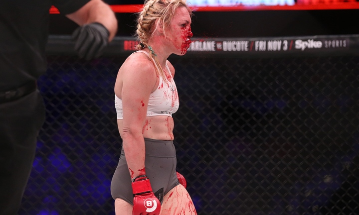 MMA Fighter Heather Hardy Got Kicked In The Nose & Bled EVERYWHERE