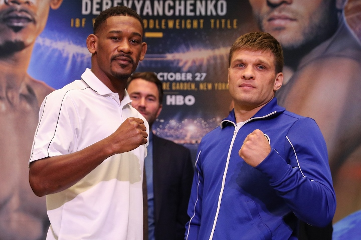 Middleweight Daniel Jacobs beats Sergiy Derevyanchenko split decision