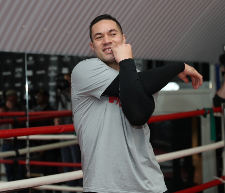 Photos: Joseph Parker Putting In Work For Anthony Joshua