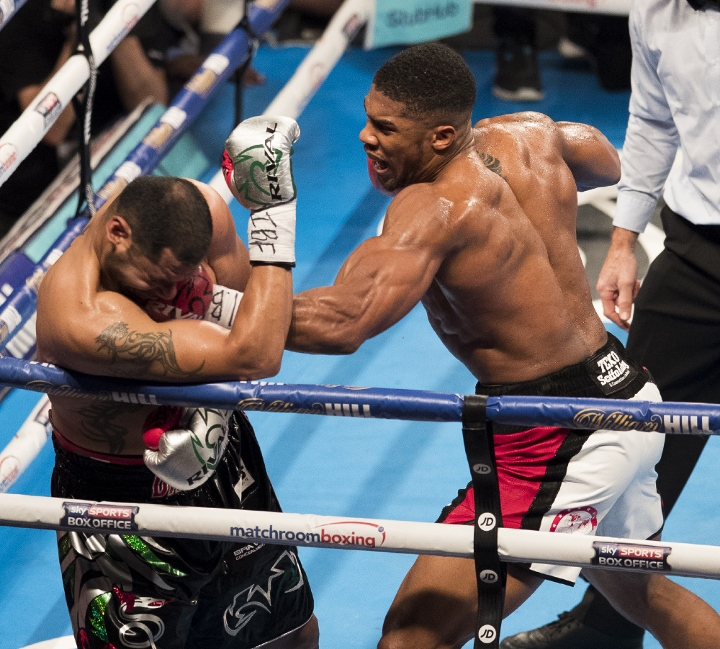 Photos: Anthony Joshua Crushes Molina, Faces Off With