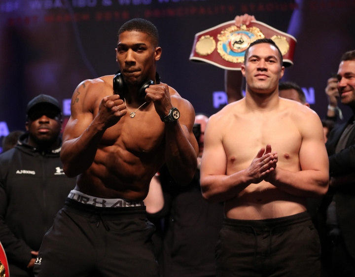 Joseph Parker and Anthony Joshua at odds over referee's communication skills