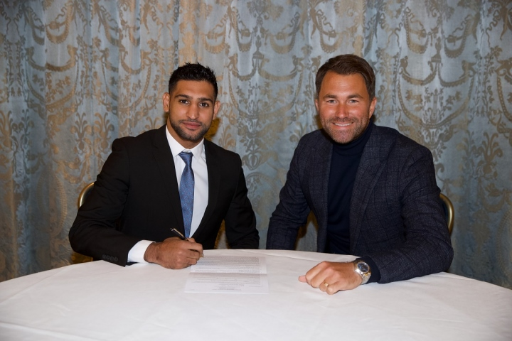 Amir Khan inks with Matchroom, returns April 21