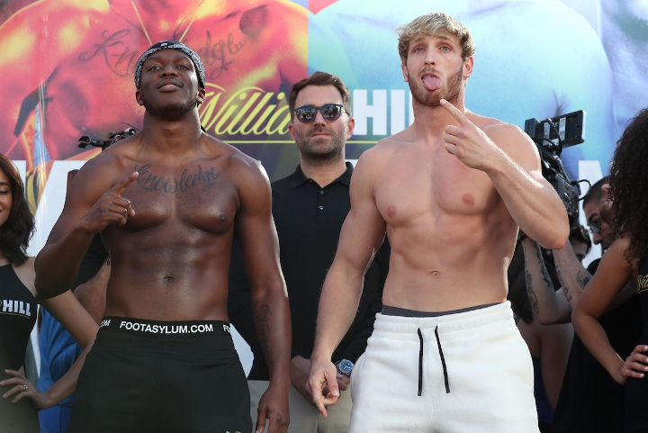 Mega popular YouTuber KSI claims split decision over Logan Paul in LA