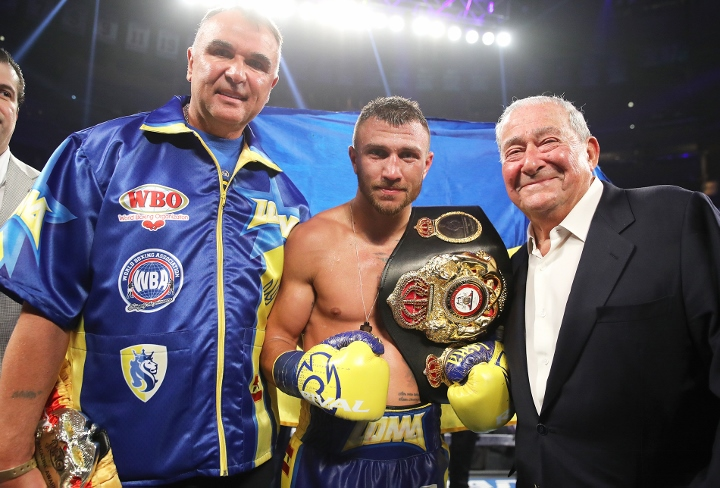 Lomachenko defeats Linares, becomes world lightweight champion