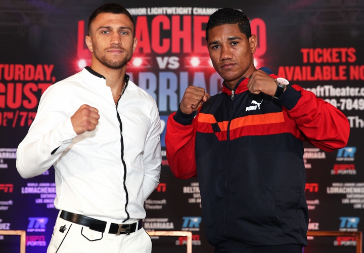 Lomachenko dominates Marriaga with TKO victory