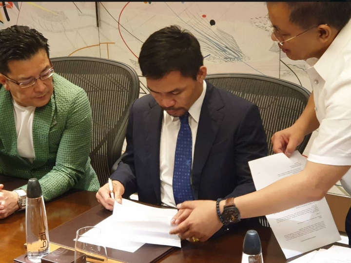 Manny Pacquiao signs with Japan-based MMA Promotion RIZIN