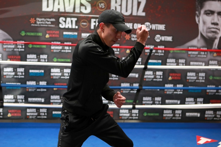 Davis destroys Ruiz to retain WBA super featherweight title
