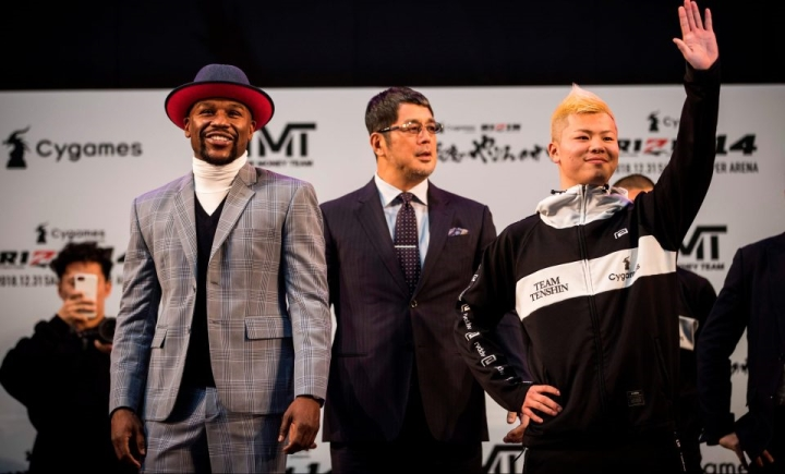 Tenshin Nasukawa issues statement after stoppage loss to Floyd Mayweather