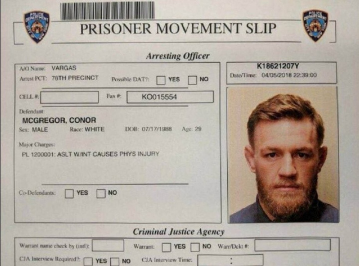 Conor McGregor finally responds to his arrest - with a cryptic emoji