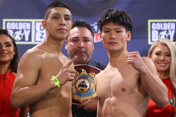 Jamie Munguia Vs Takeshi Inoue Weigh-in And Stare Down Images