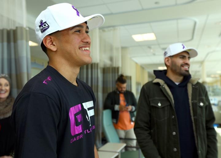 Jose Ramirez vs. Jose Zepeda Cancer Center Visit Photos