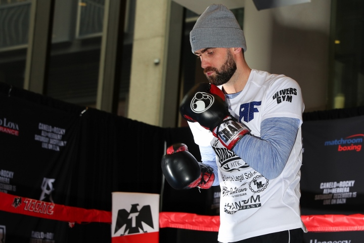 Rocky Fielding Vs Canelo Alvarez : Open Workout Photos