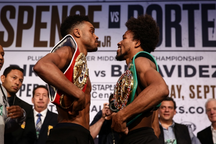 Errol Spence Jr. Outslugs Shawn Porter to Unify Welterweight Titles