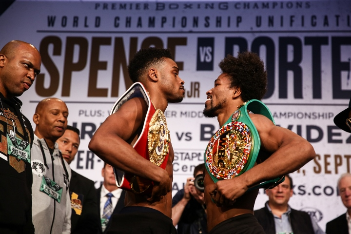 Errol Spence Jr. vs. Shawn Porter Weigh-in Results: Welterweight Title Unification Set