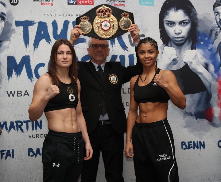 Katie Taylor aims to silence Jessica McCaskill in first lightweight title defence