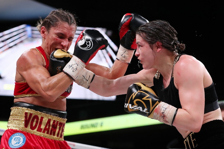 Katie Taylor stops Rose Volante in unification clash