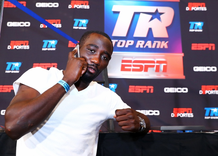 Terence Crawford throws ridiculous punch at weigh