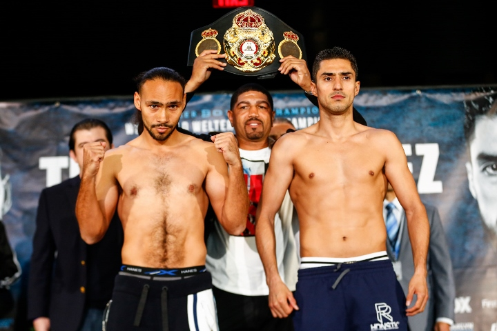 Keith Thurman Vs Josesito Lopez Weigh-in and Stare Down 1