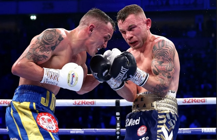 Warrington retains featherweight title beating Frampton