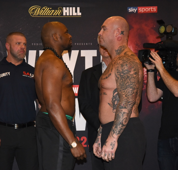 Dillian Whyte knocks out Lucas Browne in sixth round in London