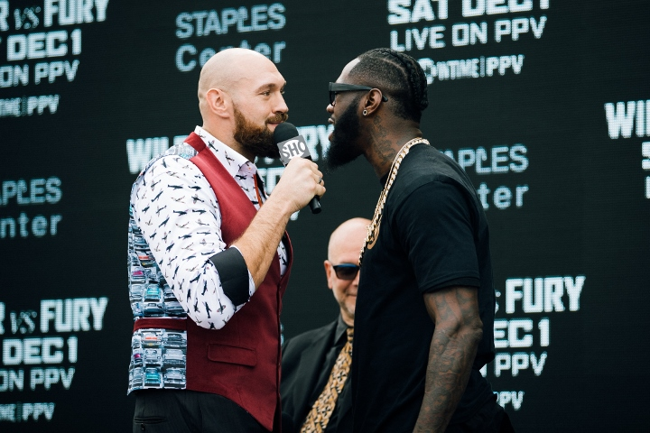 Wilder, Fury get rowdy in LA