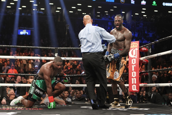 Deontay Wilder tells Anthony Joshua: it's over to you